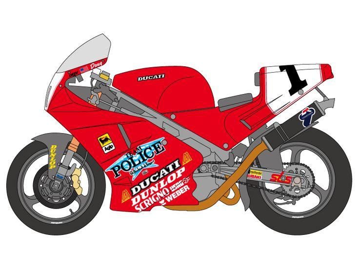 1:12 Ducati 888 Superbike Racer Decals 1992 (Tamiya)