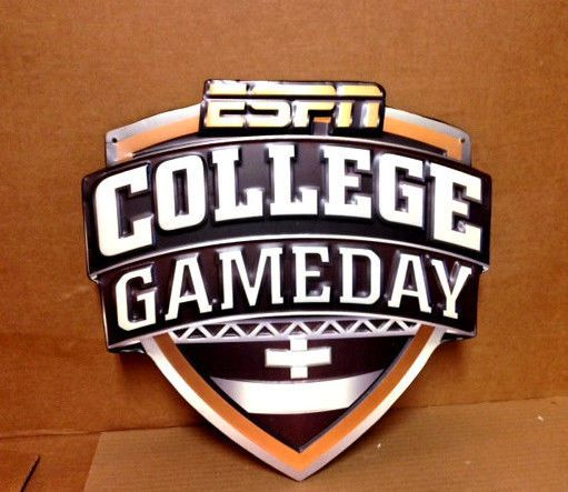 ESPN COLLEGE GAMEDAY METAL/TIN EMBOSSED SIGN MANCAVE BAR COLLEGE FOOTBALL NCAA #ESPN