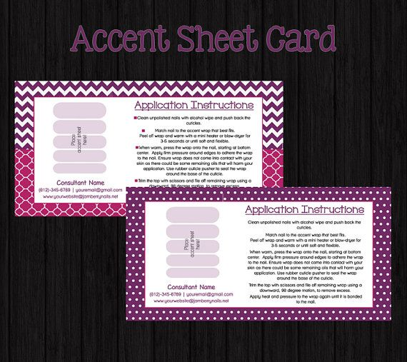 24 best jamberry business supplies images on pinterest jamberry accent sheet card for nail wrap direct sales consultants reheart Choice Image