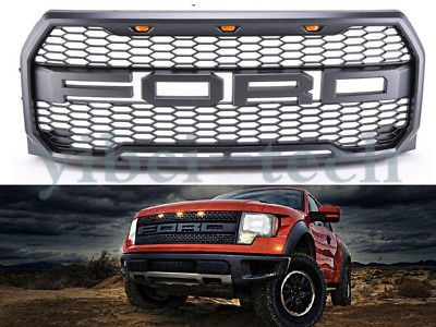 2015-2017 2018 Ford F-150 Raptor OE Style Replacement Front Bumper Grille w/LED