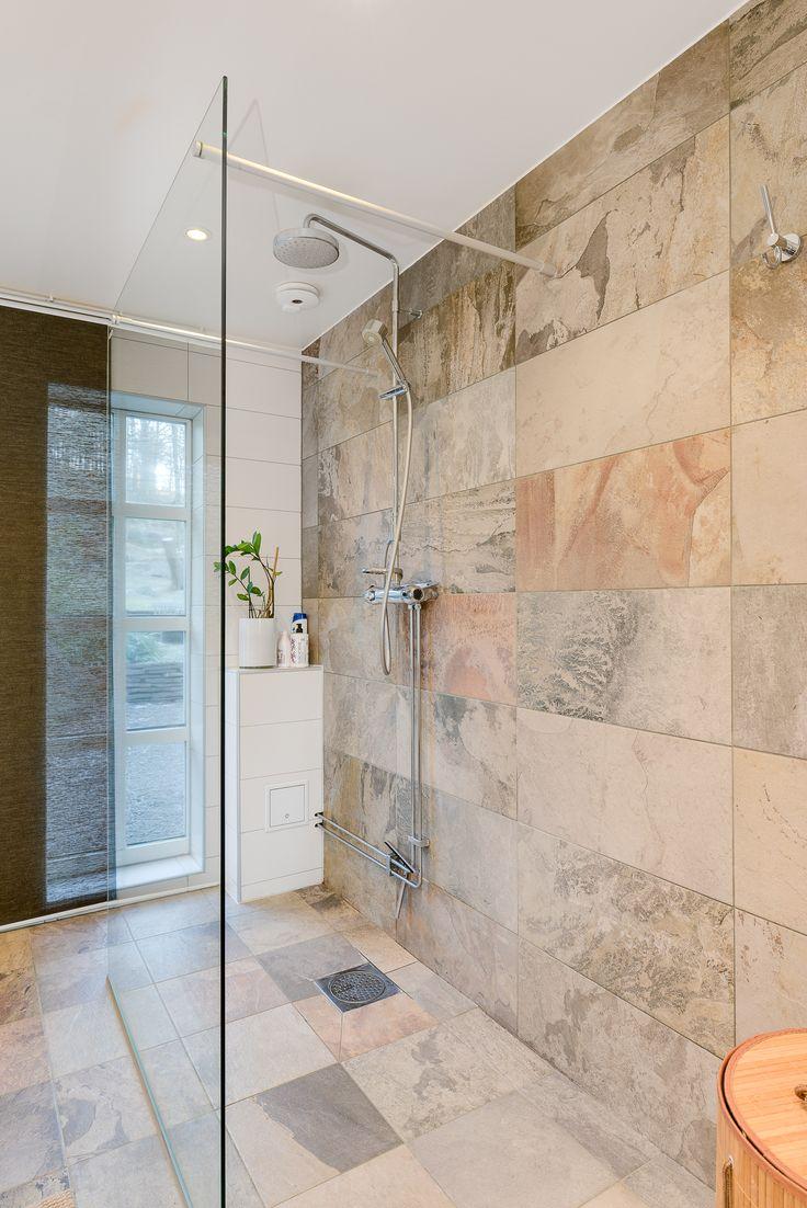 snyggt placerad dusch