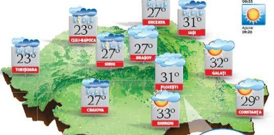 În nord-vestul ţării, vremea se va răci, vor fi înnorări şi local va ploua slab Stiri online de ultima ora