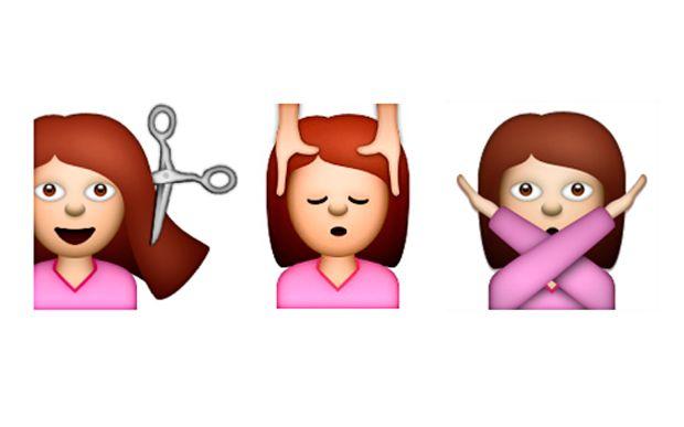 10 combinações de emojis que toda menina antenada em beleza precisa conhecer  1.Dia de salão Quando você marca corte, manicure, hidratação, escova, tintura... Ufa! Não dá nem vontade de escrever tudo isso, né?