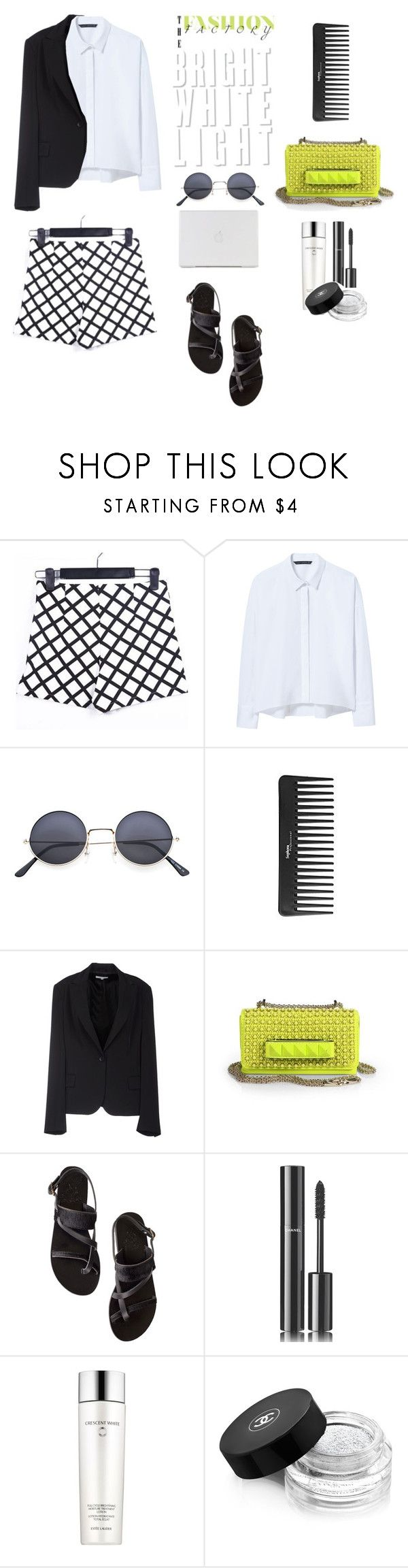 """Neon light ."" by gul07 ❤ liked on Polyvore featuring Zara, Sephora Collection, GERMANO ZAMA, Valentino, Ancient Greek Sandals, Chanel, Estée Lauder and plus size clothing"
