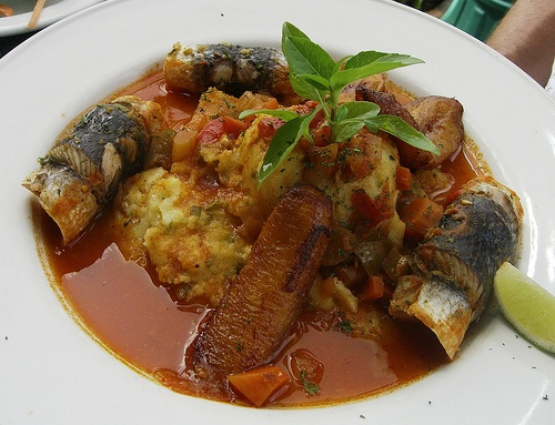 Steamed flying fish & Cou cou    Barbados' National Dish