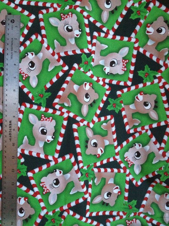 Rudolph Amp Clarice Christmas Fabric Yard Vip By Cranston