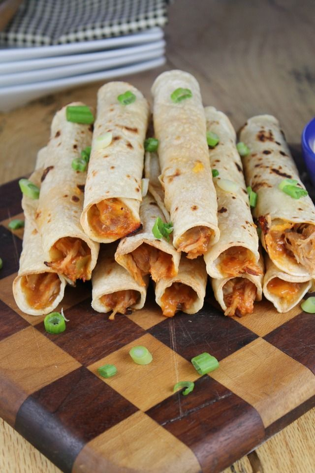 Cheesy Pulled Pork Taquitos from Miss in the Kitchen #ad