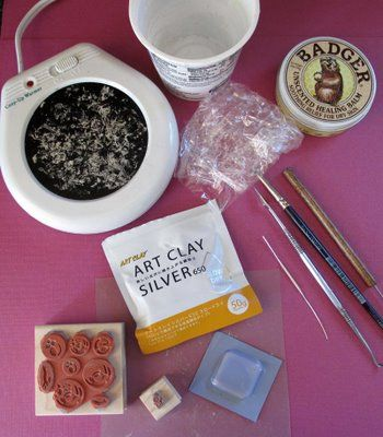 Beth Hemmila of Hint Jewelry: Behind the Scenes: Metal Clay Tools & Setup