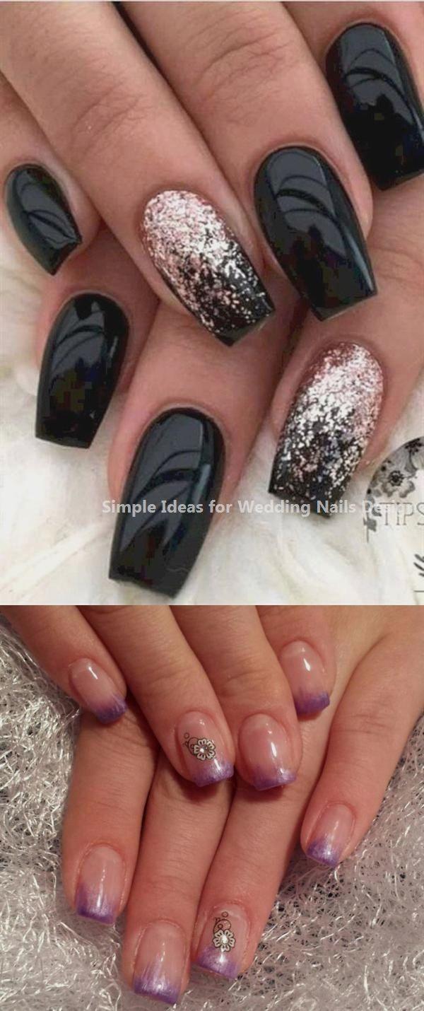 35 Simple Ideas for Wedding Nails Design bridenail