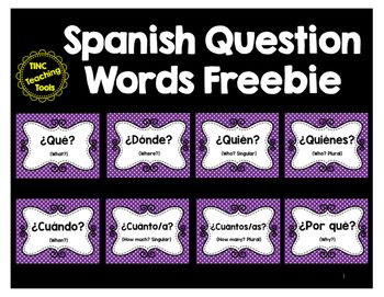 Help students learn Spanish Question Words using ready-to-print posters for the classroom. Eight (8) posters included.