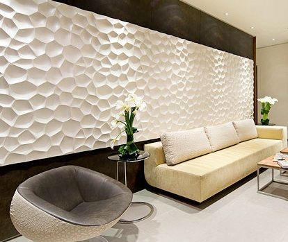 3d panels in interior op ideas pinterest 3d wall for Living room 3d tiles