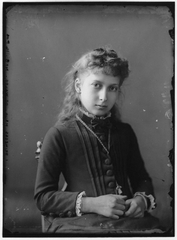 Maud Charlotte Mary Victoria, Queen of Norway (early 1880s) Photo Source: NPG, London