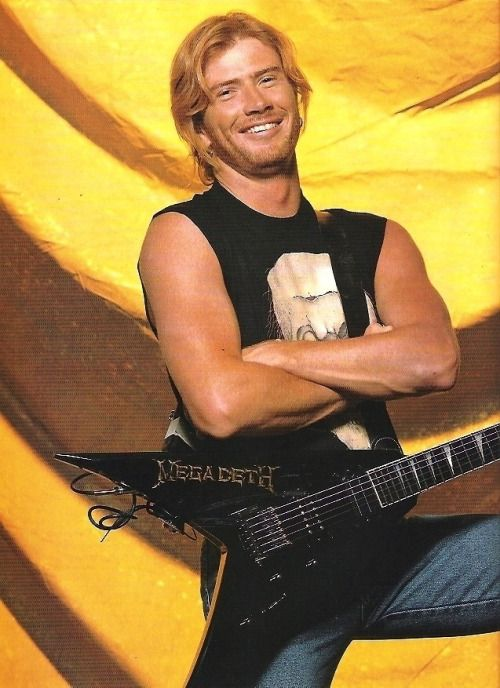Dave Mustaine ~ omg he's smiling