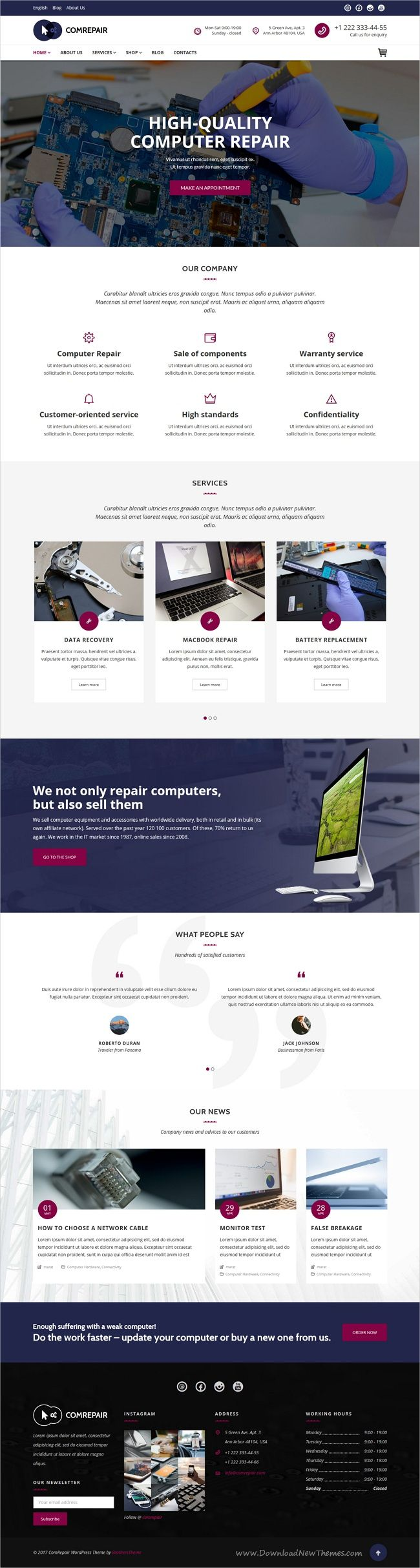 ComRepair is clean and modern design 4in1 responsive #WordPress theme for electronics and #mobile #repair services website download now > https://themeforest.net/item/comrepair-computer-repair-services-wordpress-theme/19836952?ref=Datasata