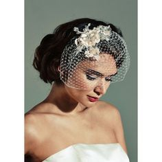 Want something a little different for your wedding? A stunning birdcage veil with lace detail will do the trick! @ Mia Sposa Huddersfield 01484421900