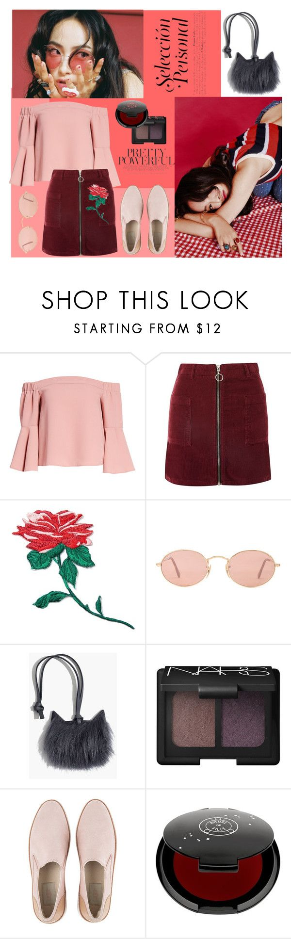 """""""Pretty Powerful"""" by krisscoryfransiska ❤ liked on Polyvore featuring Topshop, band.do, Ray-Ban, Madewell, NARS Cosmetics, UGG, Rituel de Fille, kpop and koreanlook"""