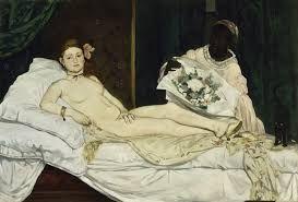 Manet, Olympia, 1863, olio su tela, Musèe d'Orsay, Parigi