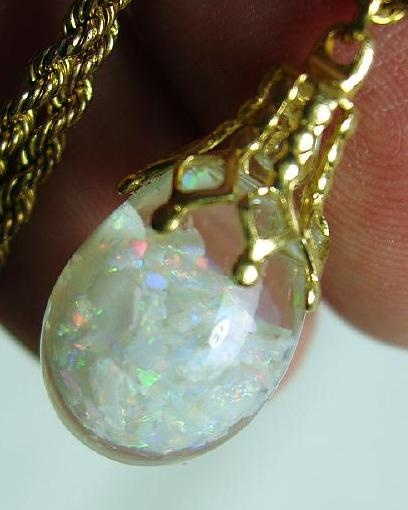 how to make a floating opal pendant