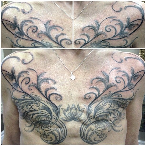 Inspiring and powerful. A double mastectomy tattoo cover-up by artist Simon Drolet, BC, Canada.