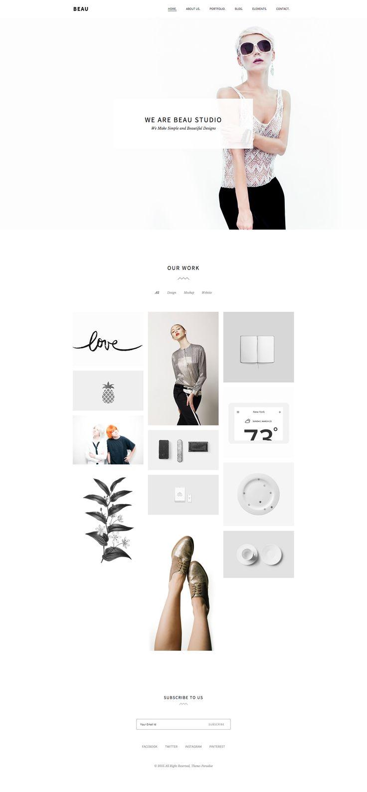 Beau - Minimal Portfolio/Agency WordPress Theme  Themeforest