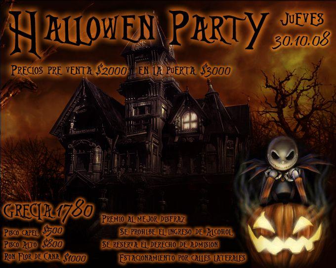 Hallowen Party - Afiche