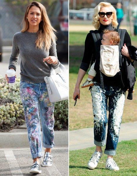 Faudra-t-il adopter, pour l'été, le jean peint ? http://www.elle.fr/Mode/Les-news-mode/Autres-news/Match-mode-les-people-et-le-jean-peint-2929634