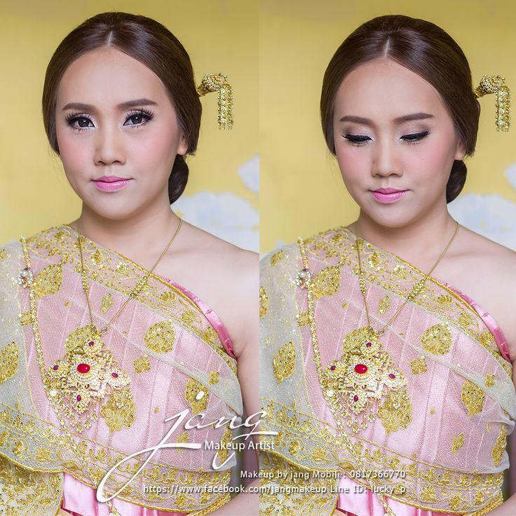 Beautiful Bride in Thai Style Costume #MyMakeUp #ThaiMakeUpArtist #MyBride  Make up by: jang make up  www.facebook.com/jangmakeup
