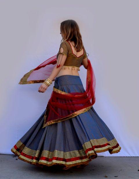 Summer Blue - Gopi Skirt Set   Dancing Gopi Skirt Outfits