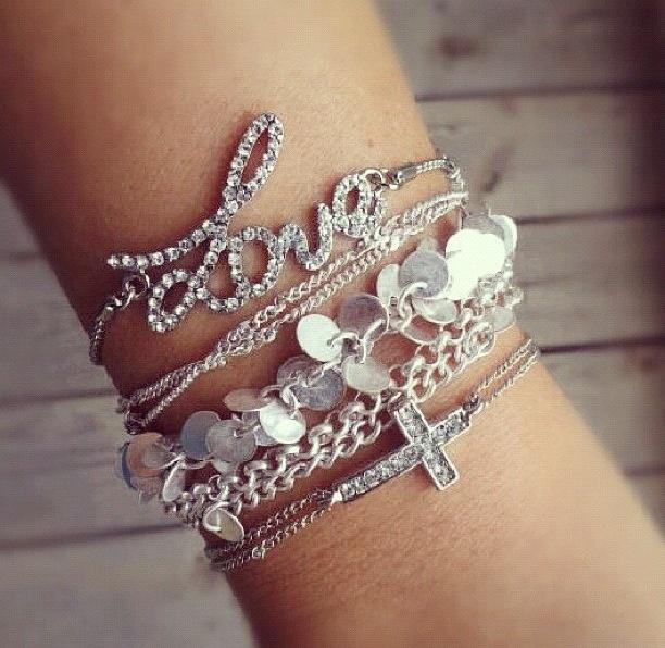 Stacked Bracelets #Love #Silver | Beauty Biz | Pinterest
