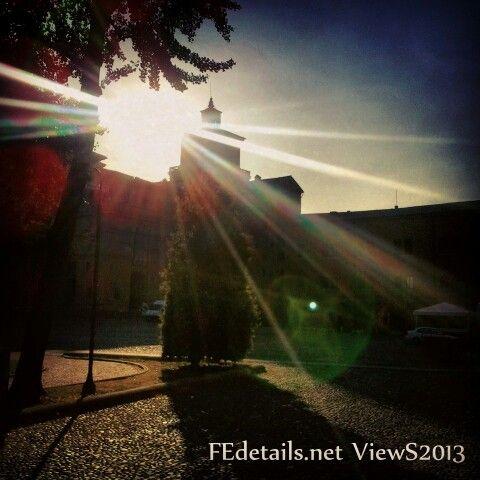 Sun on Estense Castle