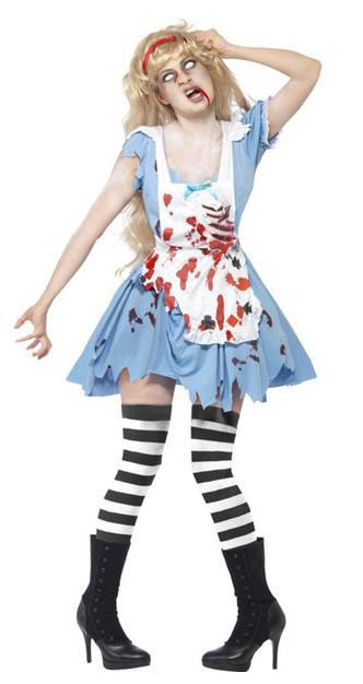 Disfraz chica Alicia, Zombie. Alicia en el país de las Maravillas  Conviértete en la protagonista de la película Alicia en el país de las Maravillas pero en su versión zombie.