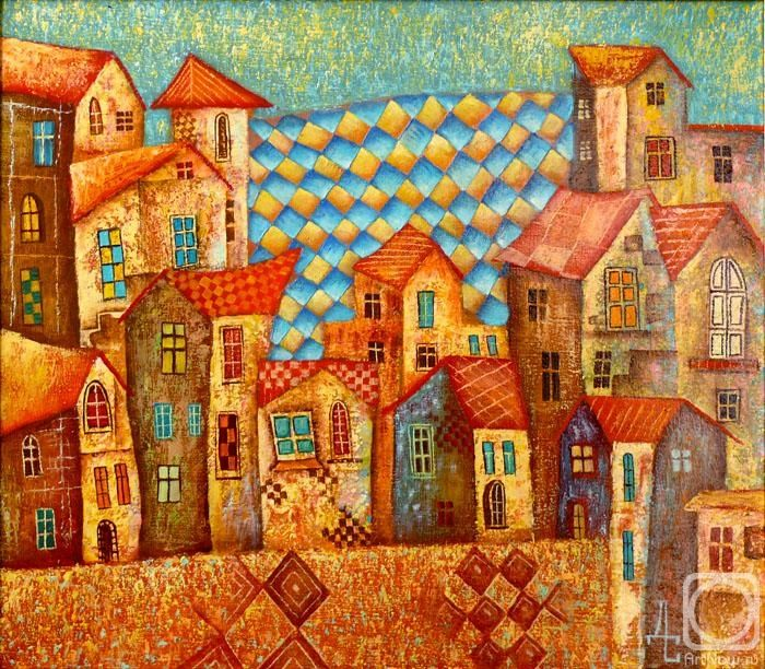 Town houses - by Dmitry Sulimov http://artnow.ru/ru/gallery/3/17161/picture/0/484403.html