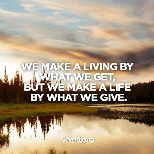 Whether it's time, talent, love, knowledge, finances, or influence…everyone has something to GIVE.