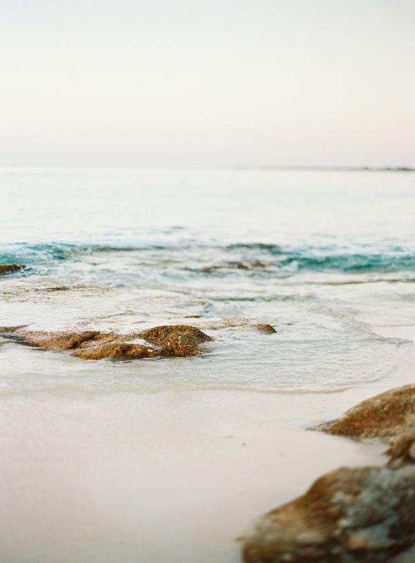 serene beach.