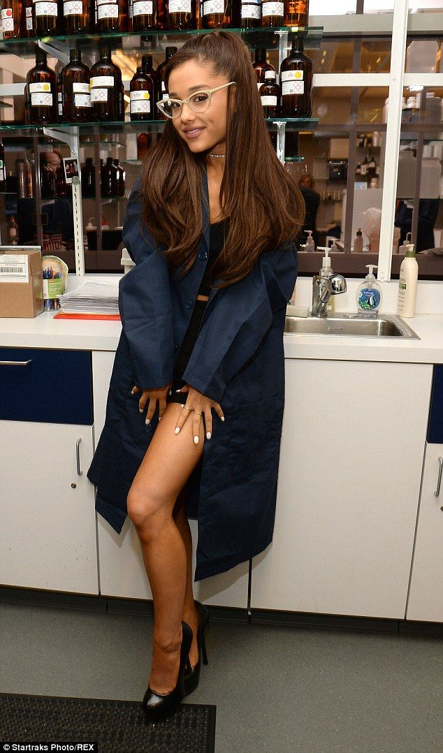 Ariana Grande's brother Frankie helps her at Firmenich lab in NYC ...