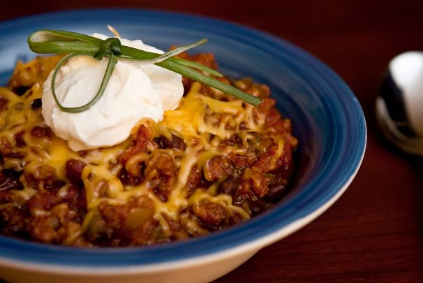 Award Winning Chili. Photo by CulinaryExplorer  Made this tonight. Subbed Anaheim pepper for the Jalepeno. Yum!