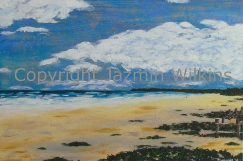 An Evening at Brunswick Heads - Acrylic on Canvas - 2016  76cm X 51cm  Painted…