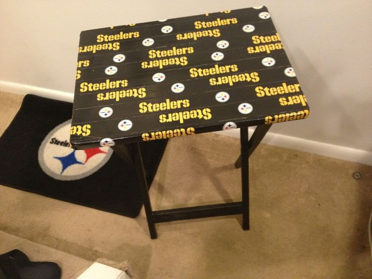 Made By Covering A Plain Tv Tray With Steelers Duct Tape