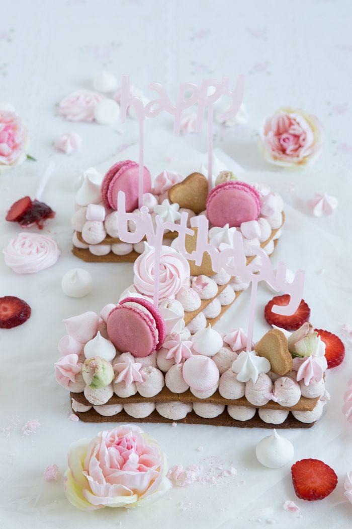 Happy Birthday Zentis Kekstorte Mit Erdbeere Rosenbluten Lisbeths Rezept Anzahl Kuchen Zahl Geburtstagstorten Kekstorte