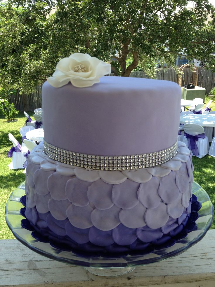 Images Of Purple Birthday Cake : Purple birthday cake! S more Cakes Ideas Pinterest ...