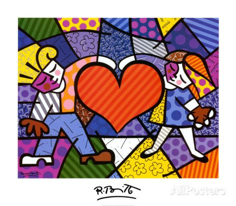 Heart Kids by Romero Britto. Art Print from AllPosters.com, $34.99 #valentinesday