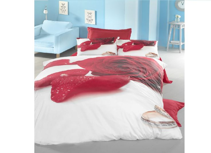 Lenjerii de pat 3 D : Lenjerie de pat bumbac satinat 3D Valentine pentru 2 persoane | | Lenjerii de pat