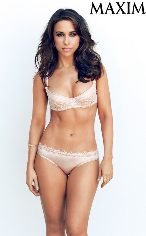 Lacey Chabert strips down to lacy lingerie for Maxim.