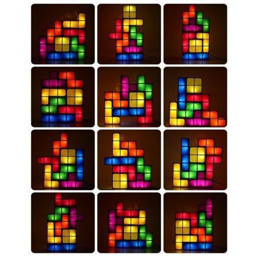 Mokingtop New Creative Tetris DIY Game Style Stackable LED ...
