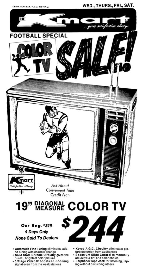 Kmart Color TV - September 1973