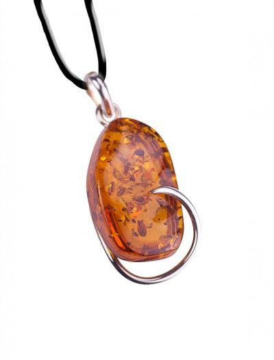 Sterling Silver & Amber Pendant - Available at Onyx Goldsmiths