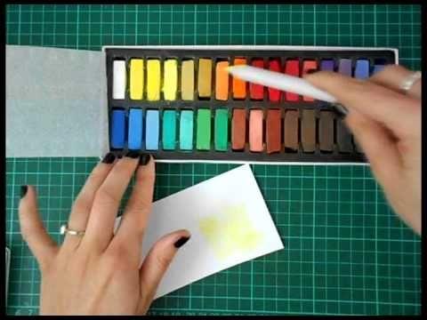 técnica con watermark + tizas pastel