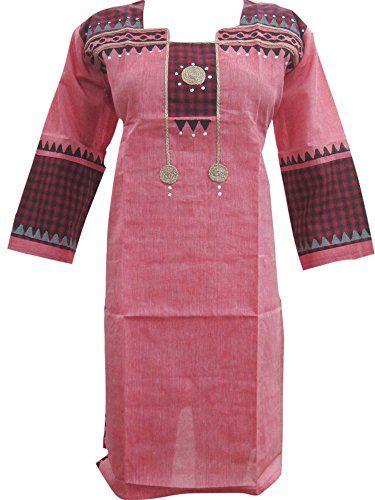 "Women's Indian Ethnic Tunic Dress Pink Cotton Straight Cut Kurta Caftan (Chest:46"") Mogul Interior http://www.amazon.com/dp/B00WSKSKZM/ref=cm_sw_r_pi_dp_Q40svb04WWKEG"