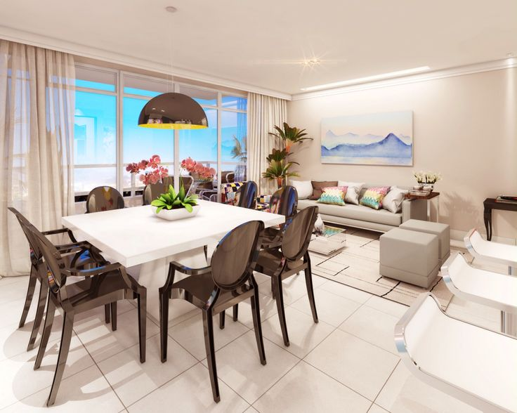 Sala de Estar e jantar | living | decoração | interior design | Projeto: Luany Campista