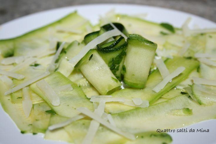 carpaccio di zucchine   - contorno